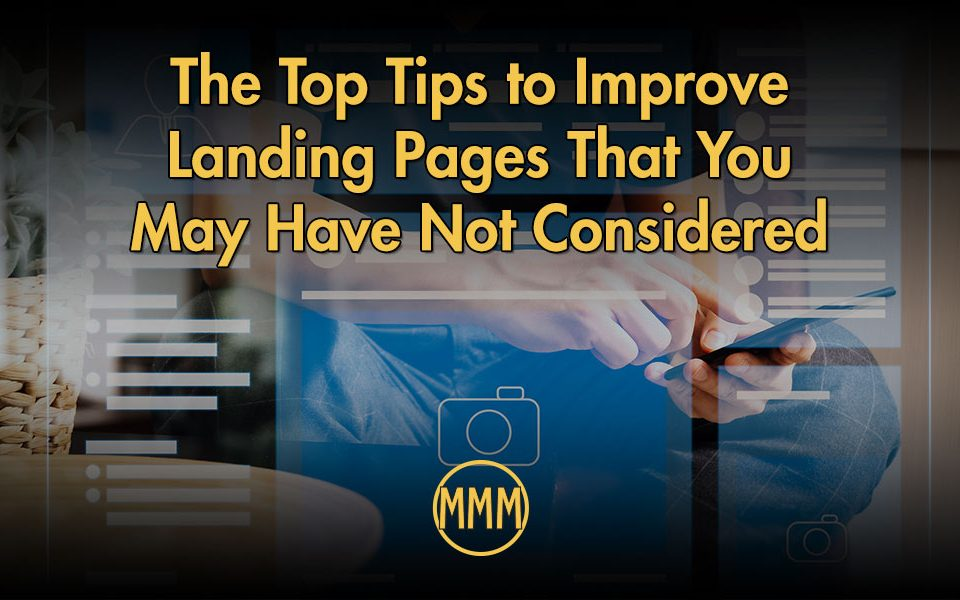 top tips to improve landing pages